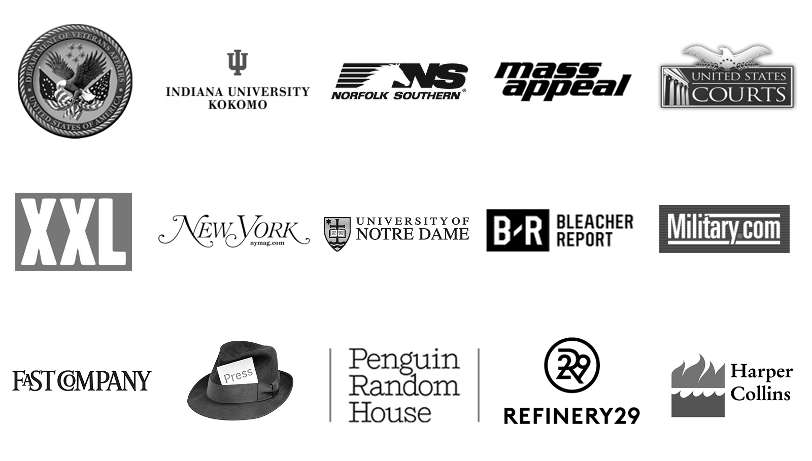 Sample of NW Transcription's clients.